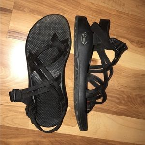 Chaco Shoes Blue Backless S Poshmark